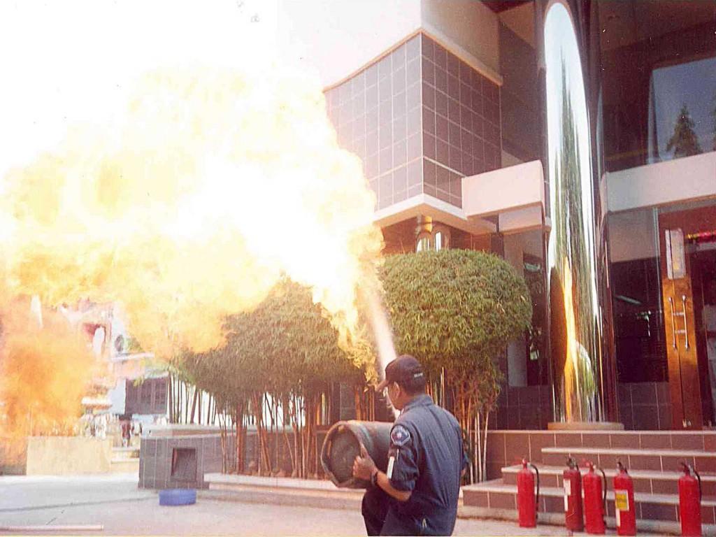 ฝึกซ้อมการดับเพลิงประจำปี